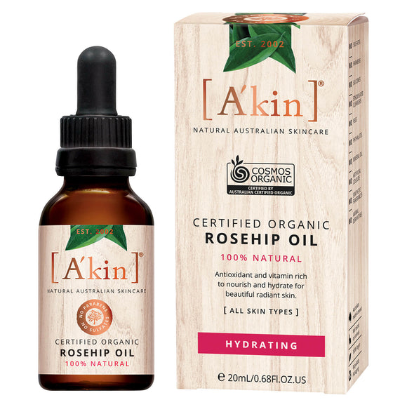 A'kin Certified Organic Rosehip Oil 20ml