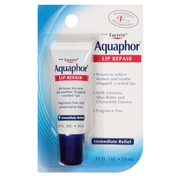 Aquaphor, Lip Repair, Immediate Relief, Fragrance Free, .35 fl oz (10