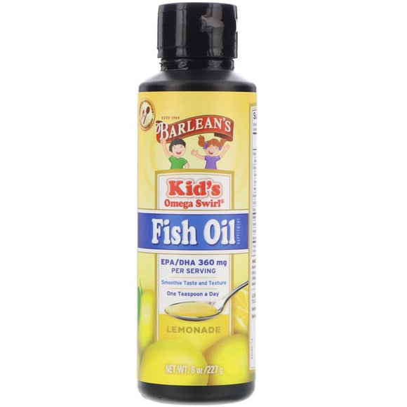 Barlean's, Kid's Omega Swirl, Fish Oil, Lemonade, 8 oz (227 g)