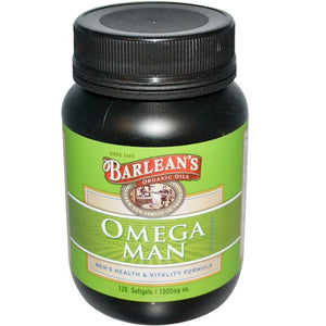 Barlean's, Omega Man Supplement, 1,000 mg, 120 Softgels