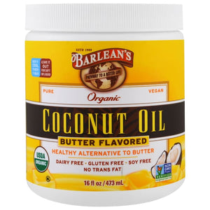 Barlean's, Organic Coconut Oil, Butter Flavored, 16 fl oz (473 ml)