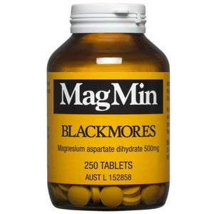Blackmores Magmin 500mg 250 Tablets for Magnesium Deficiencies