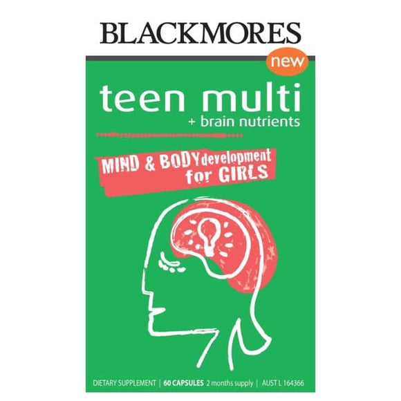 Blackmores Teen Multi + Brain Nutrients for Girls 60 Capsules