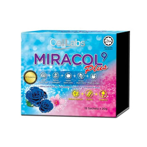 CELLLABS MIRACOL9 PLUS Rose Stem Cell Collagen 20gx15 sachets HALAL