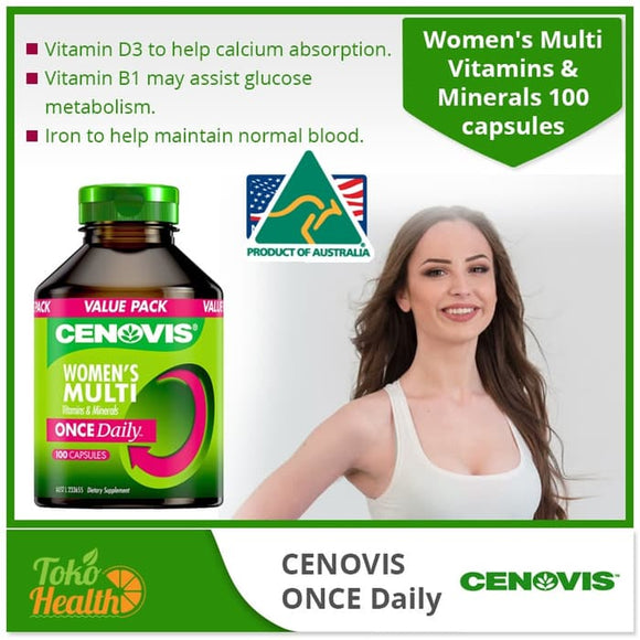 Cenovis Once Daily Woman Multivitamin 100 Caps/ Multivitamin Wanita