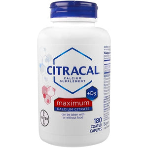 Citracal, Maximum Calcium Citrate, +D3, 180 Coated Caplets