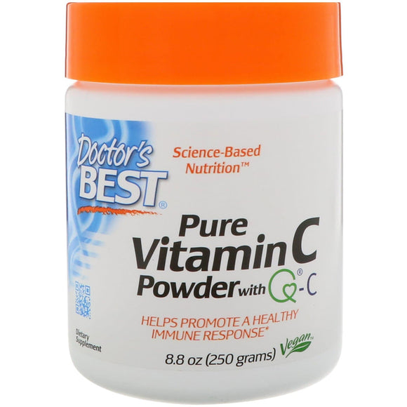Doctor's Best, Pure Vitamin C Powder with Q-C, 8.8 oz (250 g) READY