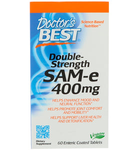 Doctor's Best, SAM-e, 400 mg, Double Strength, 60 Enteric Coated Tabs