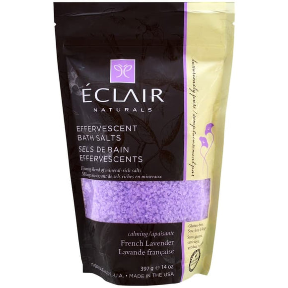 Eclair Naturals,Effervescent Bath Salts,French Lavender,14 oz (397 g)