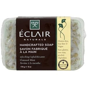 Eclair Naturals, Handcrafted Soap, Oatmeal Mint, 6 oz (170 g)