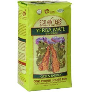Eco Teas, Yerba Mate Pure Leaf Loose Tea, Green Energy,454g