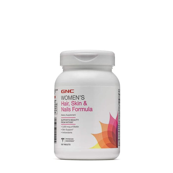 GNC Women Hair, Skin & Nails Formula with Biotin 120 Tablets