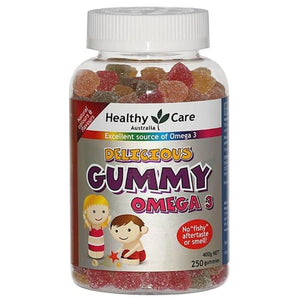 Healthy Care Delicious Gummy Omega 3, 250 Gummies