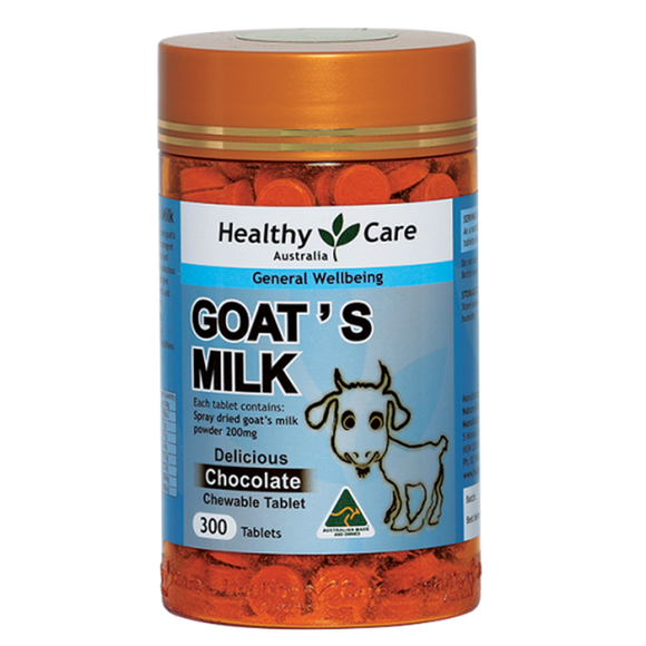Healthy Care Goat's Milk Chocolate Flavour, 300 Tablets