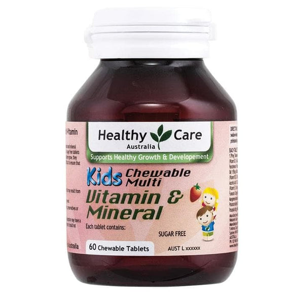 Healthy Care Kids Chewable Multivitamin & Minerals, 60 Tablets