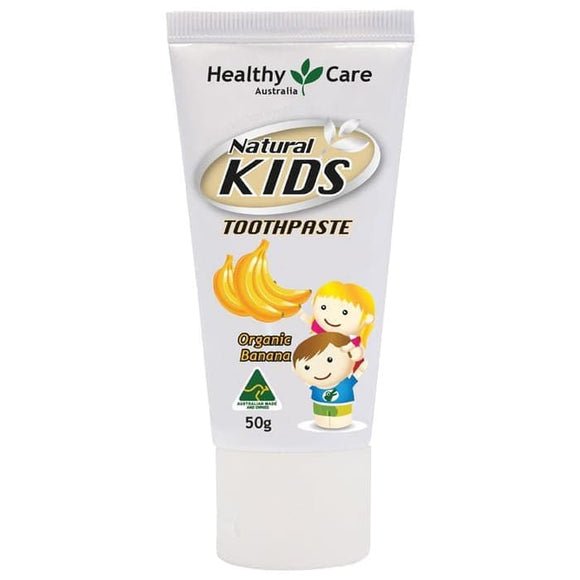 Healthy Care Natural Kids Toothpaste Organic Banana Flavour, 50 g