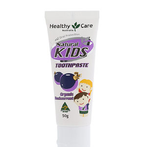 Healthy Care Natural Kids Toothpaste Organic Blackcurrant Flavour, 50g