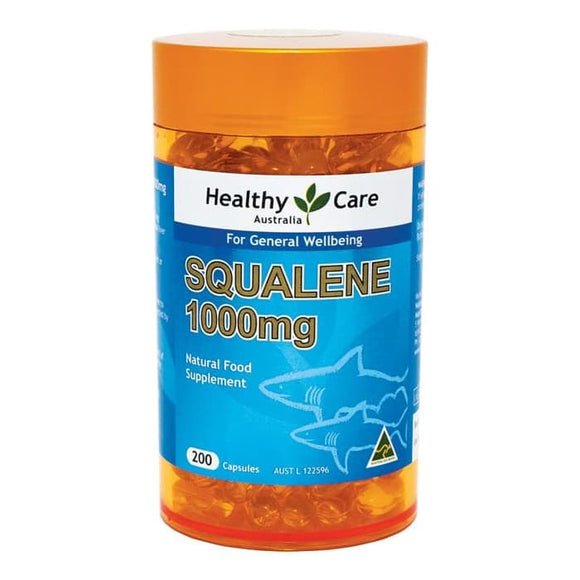 Healthy Care Squalene 1000mg, 200 Capsules