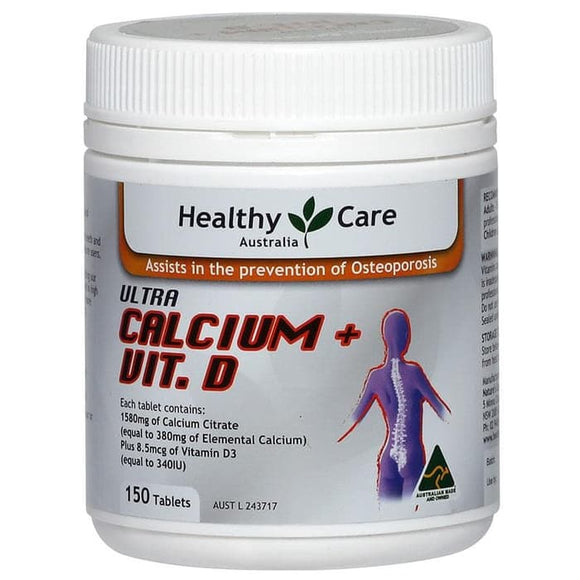 Healthy Care Ultra Calcium Plus Vitamin D, Tablets