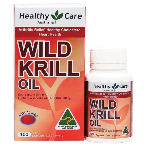 Healthy Care Wild Krill Oil 500mg, 100 Capsules