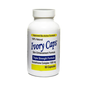 Ivory Caps Max Potency 1500 mg Glutathione Skin Whitening 60 Caps USA