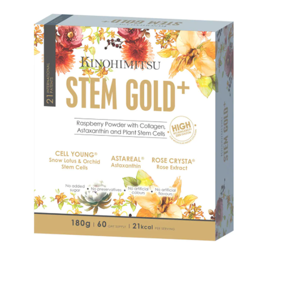 Kinohimitsu Stem Gold, Snow Lotus Stem Cell, Astaxanthin, Rose 180g