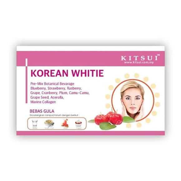 Kitsui Korean White 17 Sachet x 5g Pemutih Kulit Marine Collagen