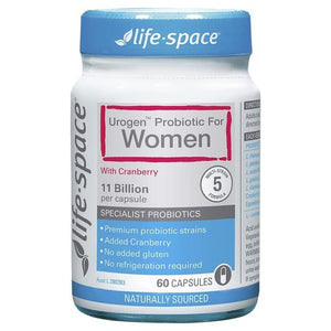 Life Space UroGenl Shield Probiotic For Women 60 Capsules