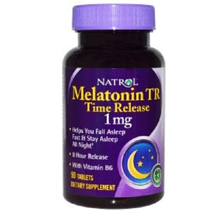 Natrol, Melatonin TR, Time Release, 1 mg, 90 Tablets