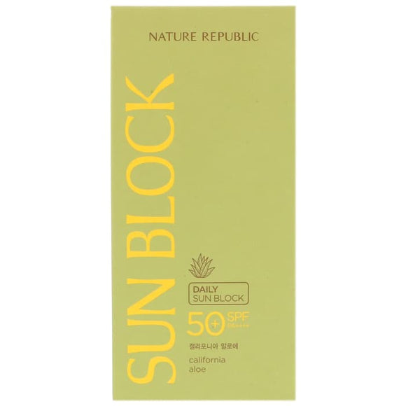 Nature Republic, Daily Sun Block, California Aloe, SPF 50 PA++++, 1.92