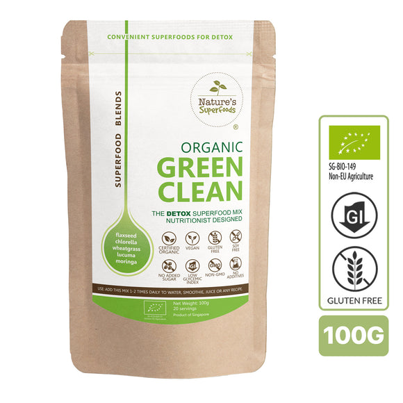 Nature's Superfoods Organic Green Clean Powder Blend (For Detox)