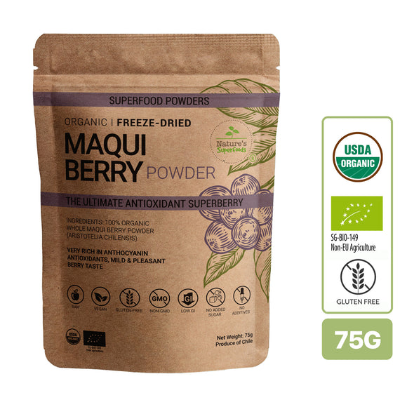 Nature's Superfoods Organic Maqui Berry Powder (Freeze-Dried)
