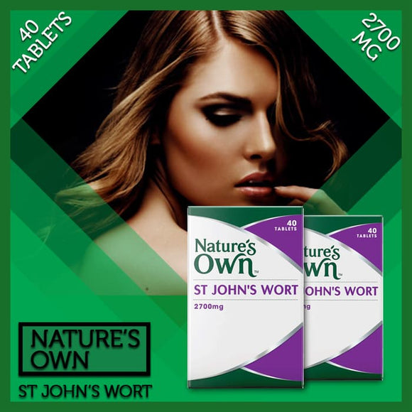 Nature's Own St John's Wort 2700mg 40 tablet Membantu Relaksasi