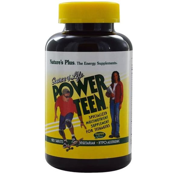 Nature's Plus, Source of Life, Power Teen, 180 Vegetarian Tablets