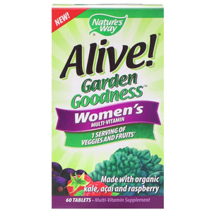 Nature's Way Alive Garden Goodness Women's Multivitamin, 60 Tablets