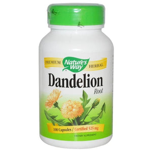 Nature's Way, Dandelion Root, 525 mg, 100 Vegetarian Capsules