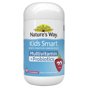 Nature's Way Kids Smart Multi + Probiotics 50 Tablets