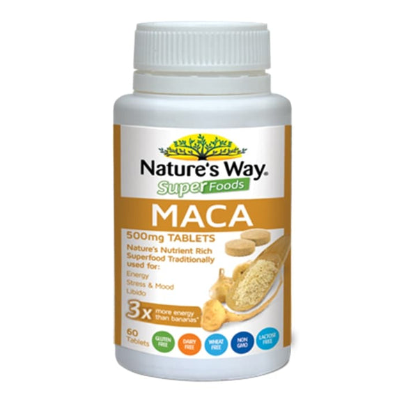 Nature's Way Superfood Maca 60 Tblt Suplemen Natural Penambah Stamina