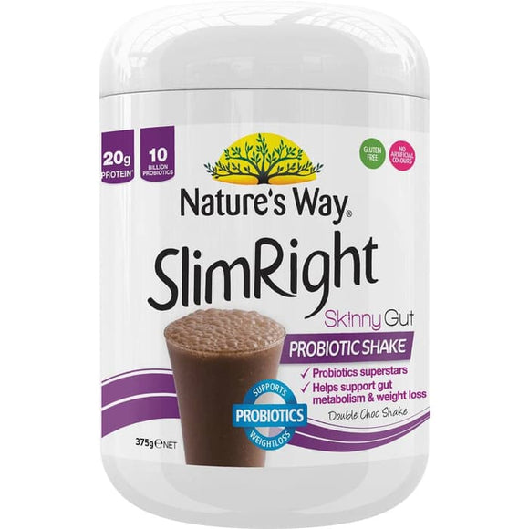 Natures Way Slim Right Skinny Gut Weight Loss Probiotic Chocolate New