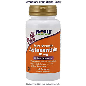 Now Food Extra Strength Astaxanthin 10 mg 60 tablet