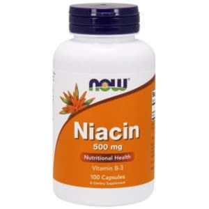 Now Foods, Niacin, 500 mg, 100 Capsules