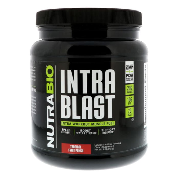 NutraBio Labs, Intra Blast, Tropical Fruit Punch, 1.6 lb (723 g)