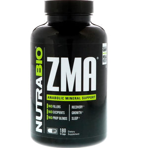 NutraBio Labs, ZMA, 180 Vegetable Capsules
