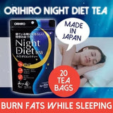 ORIHIRO Night DIet Tea 20s Sleep Magic BURN FAT Japan Teh Pelangsing