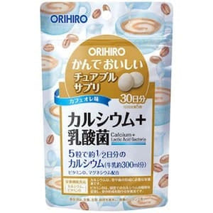Orihiro Chewable Calcium 350mg + Lactic Acid Bacteria 150s JAPAN