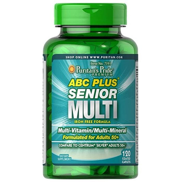 Puritan's Pride ABC Plus Senior Multivitamin Multi-Mineral Formula-120