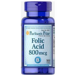 Puritan's Pride Folic Acid 800 mg 500Tablet