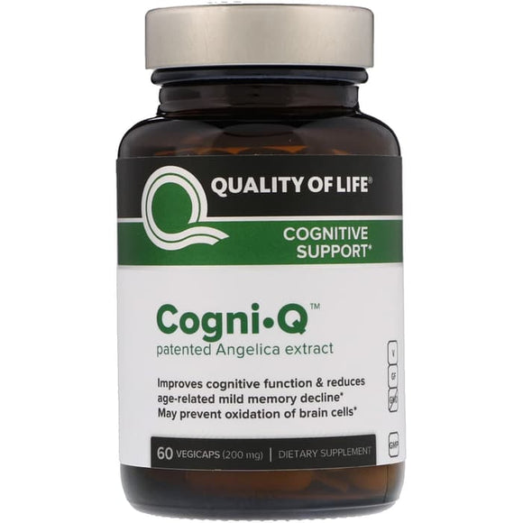 Quality of Life Labs, Cogni•Q, Cognitive Support, 200mg, 60 VegiCaps