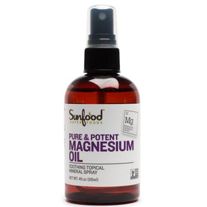 Sunfood, Pure & Potent Magnesium Oil, 4 fl oz (118 ml)