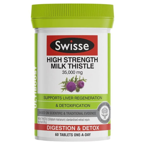 Swisse High Strength Milk Thistle 35,000 mg 60 Tablets